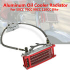 Motorcycle Aluminum Engine Oil Cooler Radiator For 50 70 90 110CC Dirt Pit Bikes