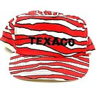 Vintage Texaco Tiger Striped Trucker Hat Cap Snapback