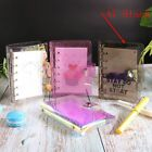 A5a6a7 Meteor Shower Pvc Cover Loose Leaf Ring Binder File Folder With Button