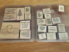 Stampin Up Loads of Love Wood Mount Stamp Set Bundle Retired Preowned