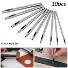 10X Leather Round Steel Hollow Hole Punch Set Leather Hand Sewing Craft 05 5mm