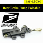 1xMotorcycle ATV Off-Road Rear Master Hydraulic Disc Brake Pump Black Foldable #
