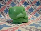 Jadeite Green Glass Skull Shot Glass in Excellent Condition.