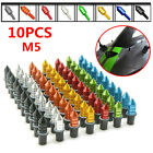 10Pcs M5 Motorcycle Bikes CNC Fairing Windscreen Windshield Spike Bolts Washers