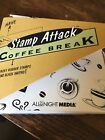 Stamp Attack Coffee Break 7 Lot Rubber Stamps Black Ink Pad All Night Media