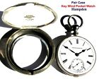 Antique 18 Size Pair Case Key Wind Key Set Pocket Watch Hampden Working Great