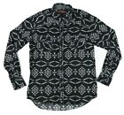 Rock and Roll Cowboy Men Medium 425 Long Sleeve Pearl Snap Shirt Navajo Native
