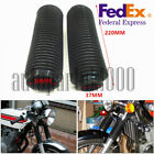 2x37MM Motorcycle Fork Rubber Gaiters Boots Front Fork Shock Absorber Dust Cover