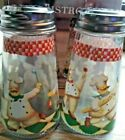 Circleware Bistro Chef Salt And Pepper Shakers 4 Oz stainless steel lids 118ml