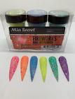 Mia Secret Nail Art Acrylic Professional Powder 6 Colors Set - FIREWORKS