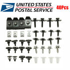 40Pcs Car Bumper Engine Cover Mixed Fasteners Retainer Clips Screws For Toyota