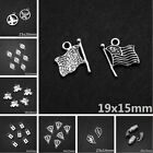 Lot Tibetan Silver Retro Gothic Charms Pendant DIY Crafts Jewelry Bracelet Beads