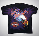 Vintage 90s Harley Davidson Screaming Eagle All Over Print T Shirt 3D Emblem