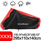 XXXL Heavy Duty Waterproof Polyester Motorcycle Scooter Cover Rain Protector Red