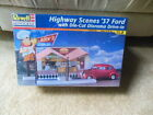Revell Highway Scenes 1937  '37 Ford w/ Die-Cut Diorama Drive-In in 1/24  Sealed