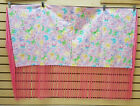 NICE HOMEMADE KIDS PINK BUTTERFLY DESIGN NATIVE AMERICAN INDIAN SHAWL