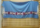 NICE LIGHT BLUE HOMEMADE RIBBONWORK DESIGN NATIVE AMERICAN INDIAN DANCE SHAWL