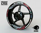 APRILIA RSV4 Factory 1100 Tuono Wheel Stickers Stripes Rim Decals Front/Rear