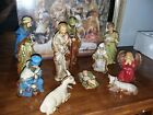 Kirklands Potters Garden II Porcelain 10 Piece Christmas Holiday Nativity Set