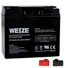 Weize 12V 20AH AGM Sealed Rechargeable Lead Acid SLA Battery For HR22 12 RT1220