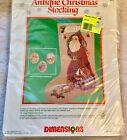 Dimensions Antique Christmas Stocking Counted Cross Stitch Kit 8375 Sealed 1989