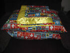 new dog blanket with binding 41by43and two poly fild pillows for dog bed