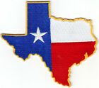 TEXAS STATE SHAPE FLAG Iron On Patch Lone Star State State of Texas
