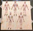Used Vintage GI Joe 1960s 12 Action Figures FIVE Without Clothes