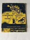 VINTAGE Sunoco MATCHBOOK Roberts Sunoco Service Kokomo Indiana Retro Advertising