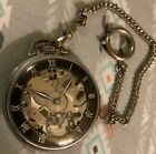 RARE-EXCELLENT Cond.Skeleton Pocket Watch SHELL GIRARD-PERREGAUX