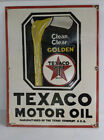 TEXACO MOTOR OIL Spigot Can Porcelain Sign