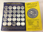 Vintage SUNOCO Antique Car Coin Collection, with collector card. 21 Coins, Serie