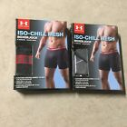 Under Armour Mens ISO Chill 6'' Boxerjock Boxer Briefs Black Grey 06-19