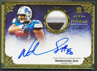 2010 NDAMUKONG SUH Topps Five Star ON CARD AUTO 3 Clr Prime Patch Lions RC # 40