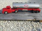 Vintage Buddy L Texaco Gas Oil Tanker Truck & Trailer Pressed Steel Toy USA