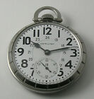 Hamilton 16 size Pocket Watch Grade 992B model 15 case made 1953