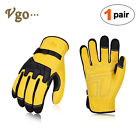 Vgo 1pair3pairs Premium Cow Grain Leather Work Glovesdriver Glovesca1012