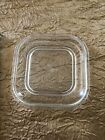 Vintage Fire King Refrigerator Dish Lid Small Square Glass Replacement