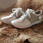 MICHAEL KORS ALLIE TRAINER LACED UP LEATHER SNEAKERS 75M NEW MSRP 125