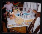 Vintage Photograph Little Girl Playing With Retro Barbie  Ken Pool