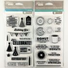 Jillibean Soup Lot Of 2 Clear Stamp Sets Birthday  Coffee And Donuts Sayings