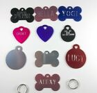 Dog Pet Tags Custom Engraved ID Tag Dog Tag Bone Shape Free Split Ring