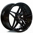 20 Staggered Marquee Wheels 3259 Black Rims fit Cadillac ATS RWD