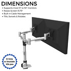 Dual Monitor Mount w EZ Clamp Design  Holds 2 Computer Monitors up to 30