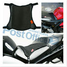 Universal Motorcycle Cool Seat Cover 2-Layer Mesh Cushion 3D Non-Slip Pad #