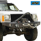 EAG Stinger Front Bumper with Winch Plate Fit 84 01 Jeep Cherokee XJ