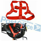 Red Rear Wheel Transport Wide Fixing strap Strong Pull Folded Motorcycle