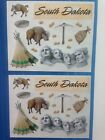 Two Creative Memories South Dakota bison teepee 5 x 4 Block Stickers new