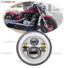 For Kawasaki VN Vulcan Classic Nomad Drifter 1500 7inch DRL Halo LED Headlight