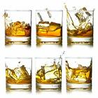 Crystal Rocks Whiskey Glasses Heavy Base Lead Free Scotch Liquor Glass Mug 12oz